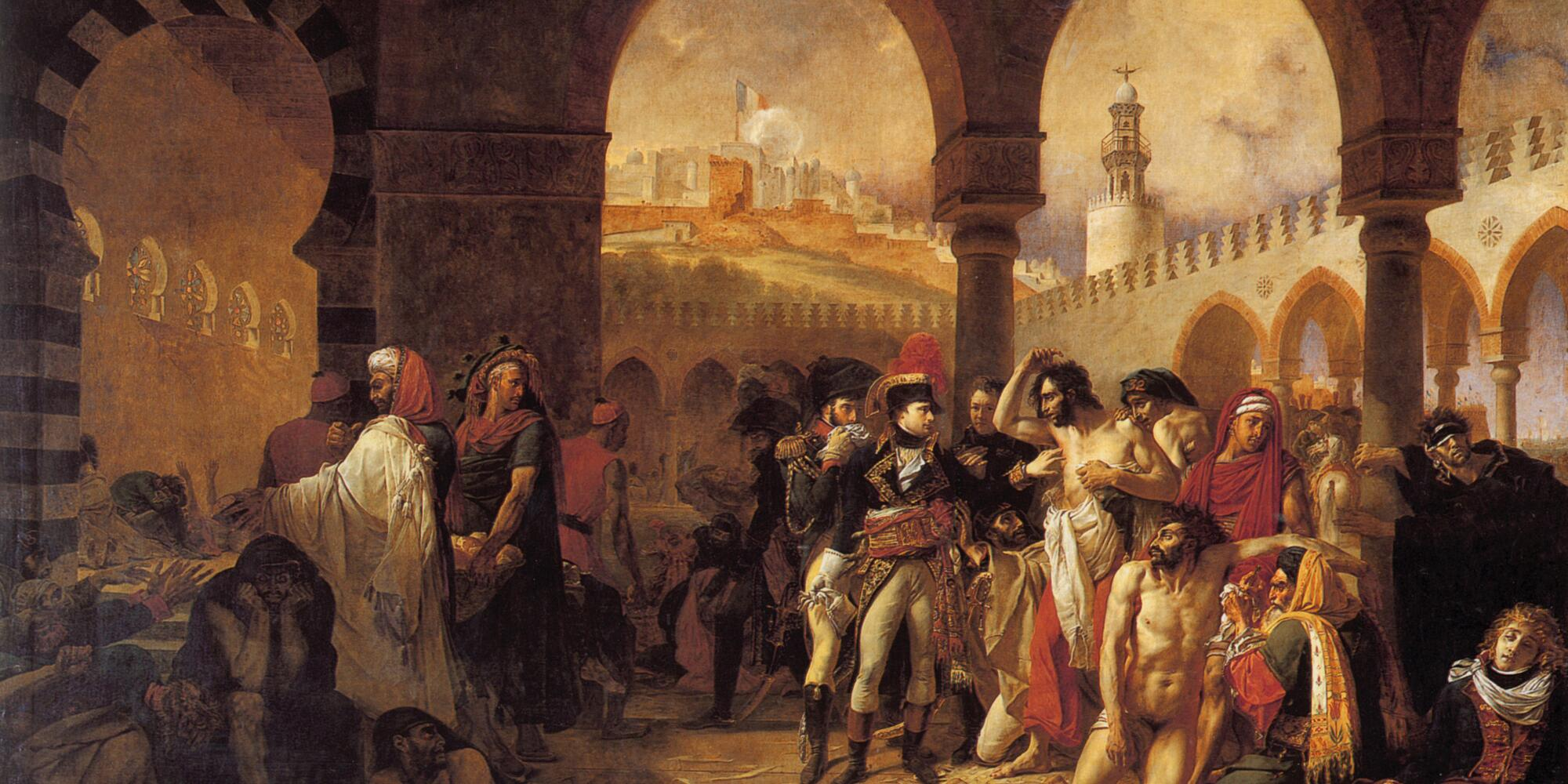 Bonaparte visiting plague victims